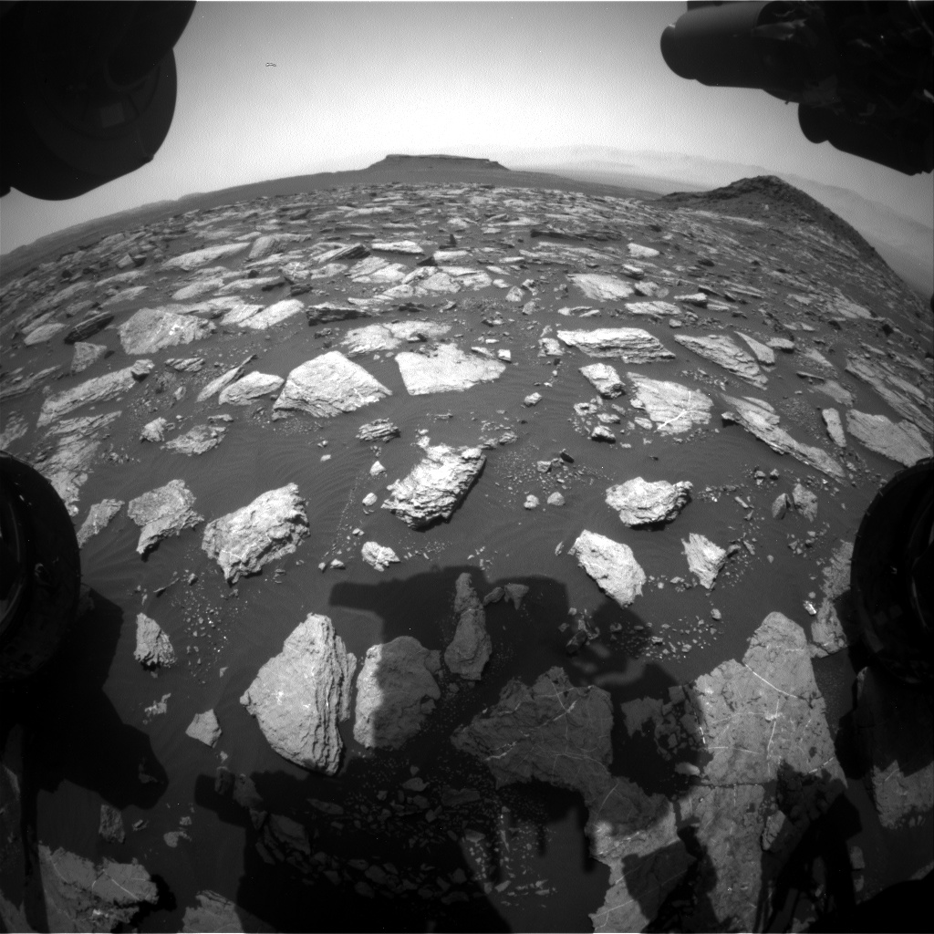Nasa's Mars rover Curiosity acquired this image using its Front Hazard Avoidance Camera (Front Hazcam) on Sol 1595, at drive 2574, site number 60
