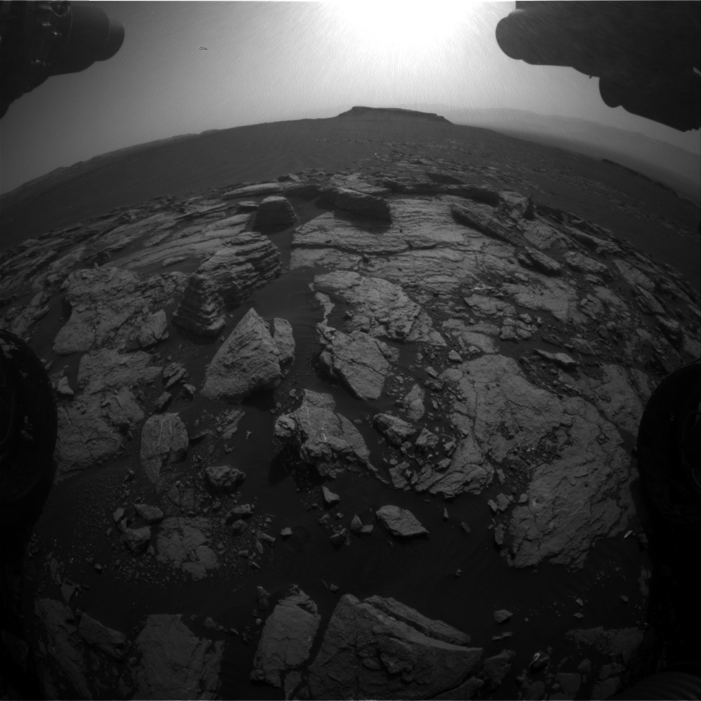 Nasa's Mars rover Curiosity acquired this image using its Front Hazard Avoidance Camera (Front Hazcam) on Sol 1598, at drive 2928, site number 60
