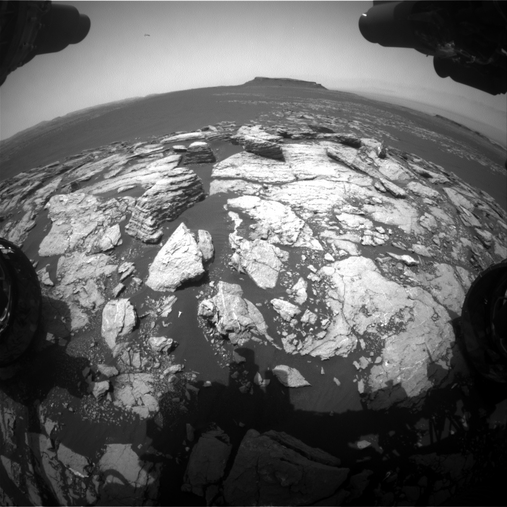 Nasa's Mars rover Curiosity acquired this image using its Front Hazard Avoidance Camera (Front Hazcam) on Sol 1599, at drive 2928, site number 60