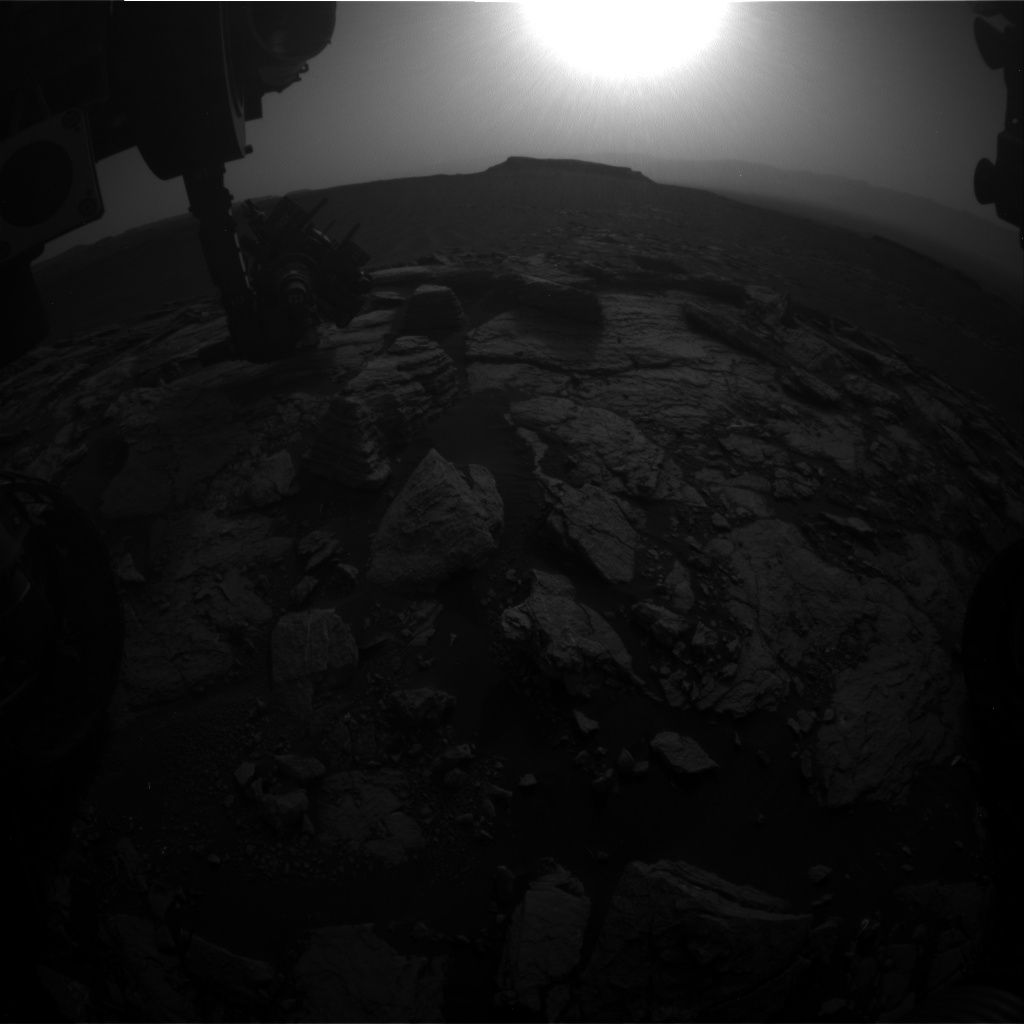 Nasa's Mars rover Curiosity acquired this image using its Front Hazard Avoidance Camera (Front Hazcam) on Sol 1600, at drive 2928, site number 60