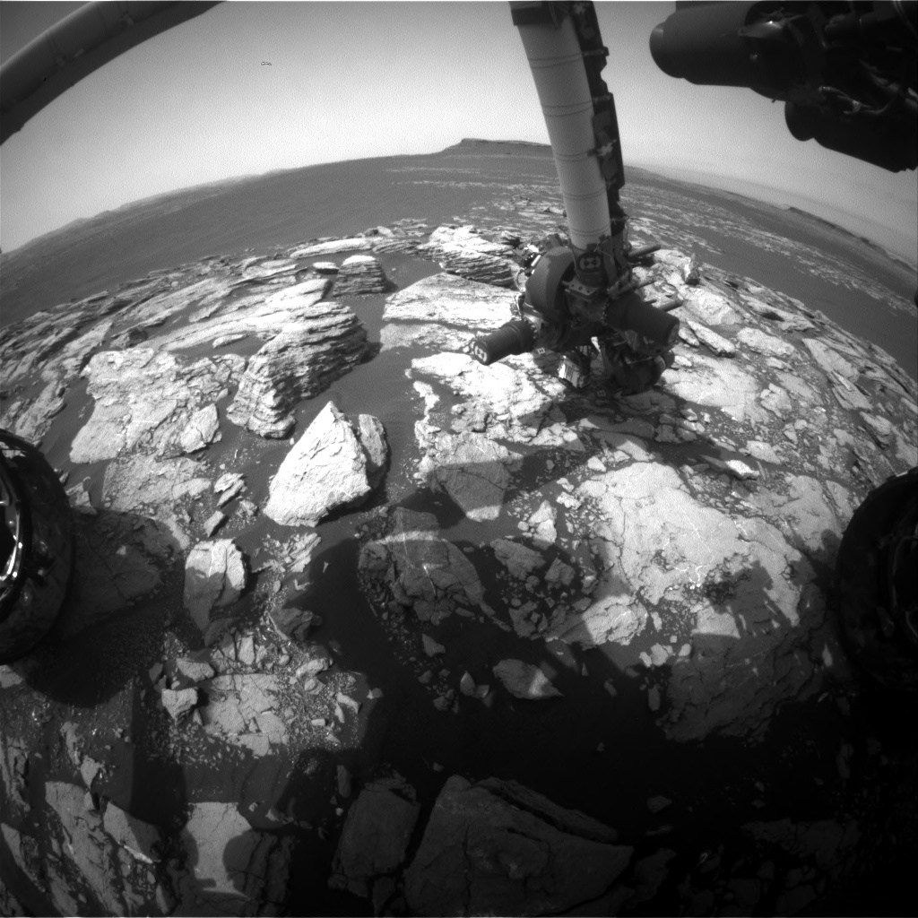 Nasa's Mars rover Curiosity acquired this image using its Front Hazard Avoidance Camera (Front Hazcam) on Sol 1601, at drive 2928, site number 60
