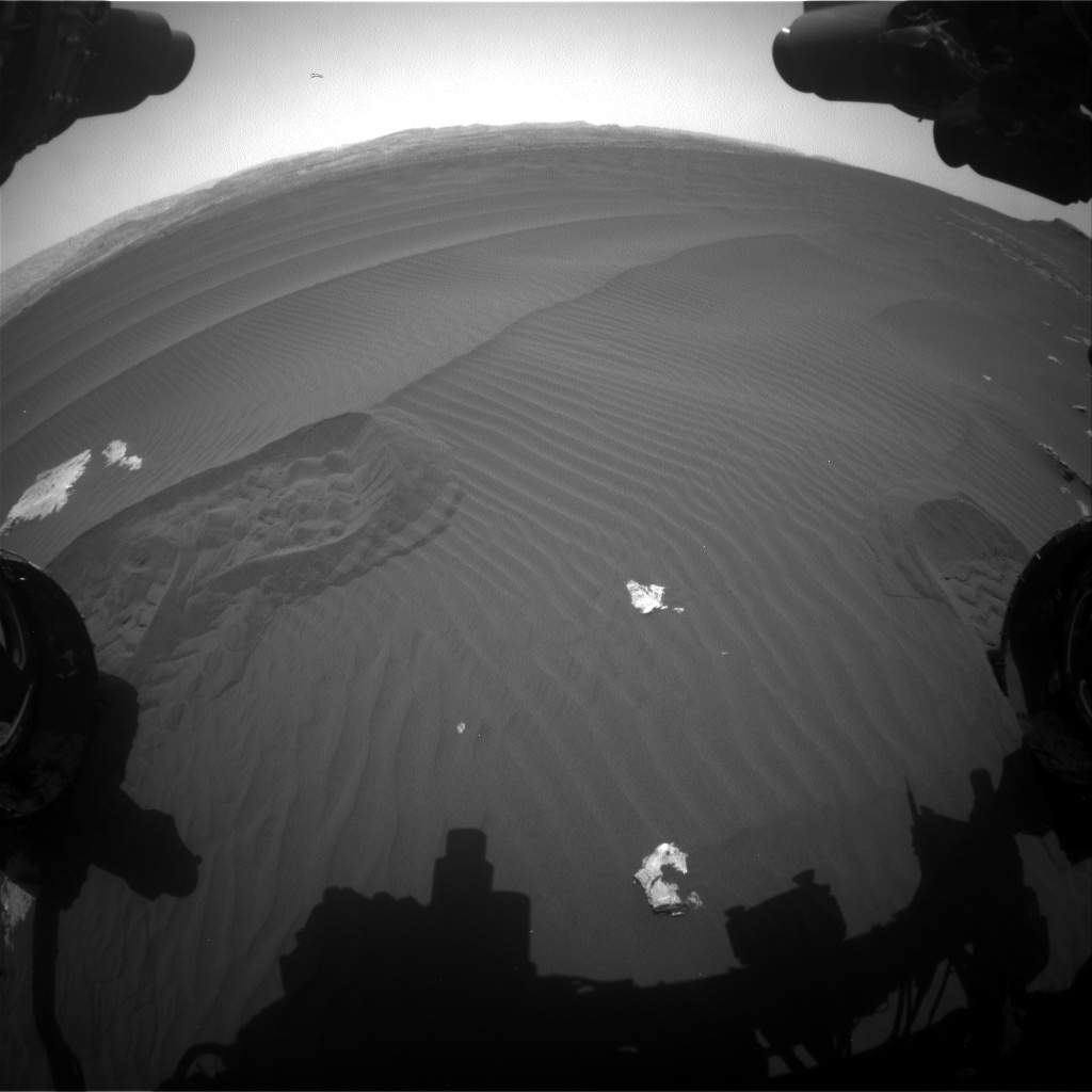 Nasa's Mars rover Curiosity acquired this image using its Front Hazard Avoidance Camera (Front Hazcam) on Sol 1601, at drive 3162, site number 60