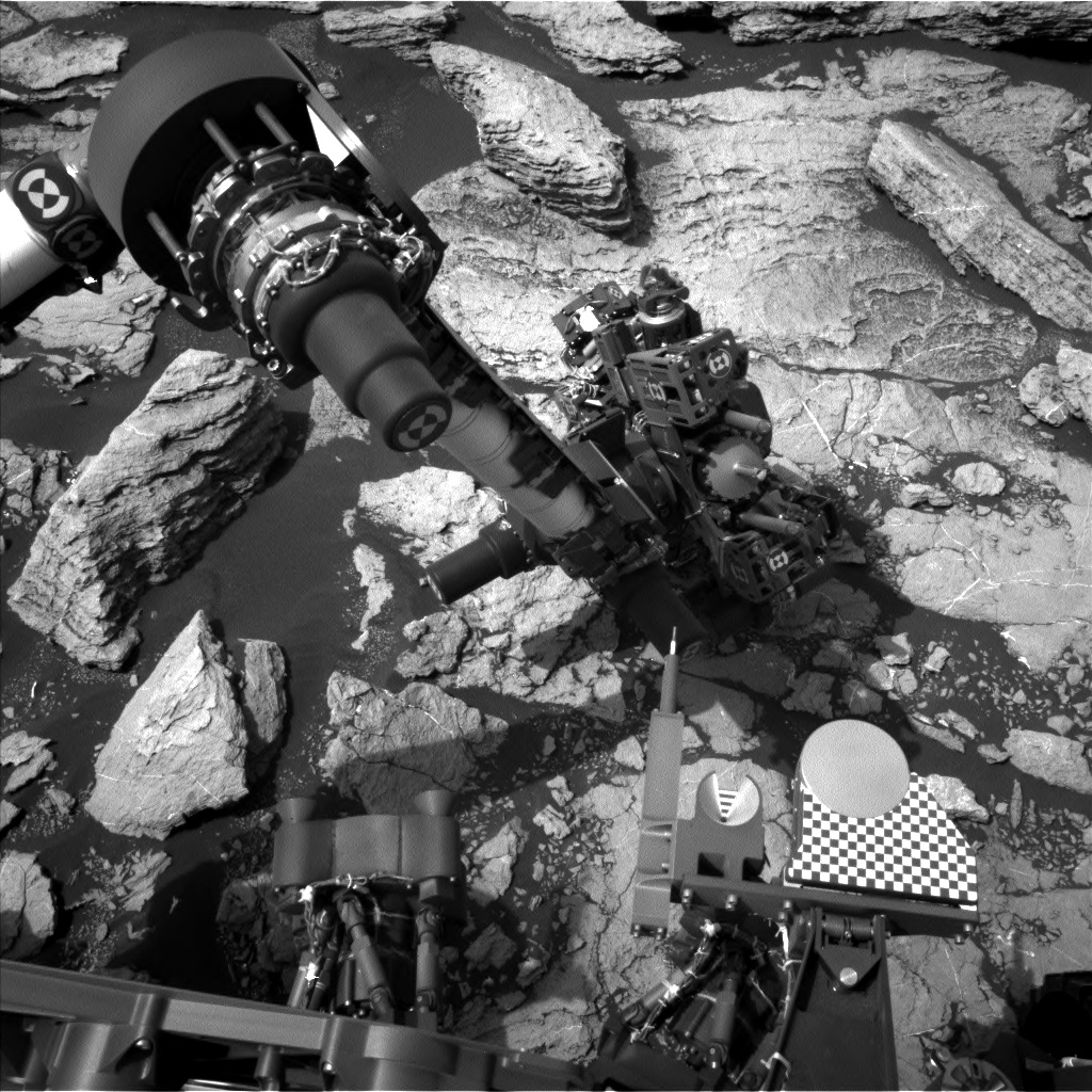 Nasa's Mars rover Curiosity acquired this image using its Left Navigation Camera on Sol 1601, at drive 2928, site number 60