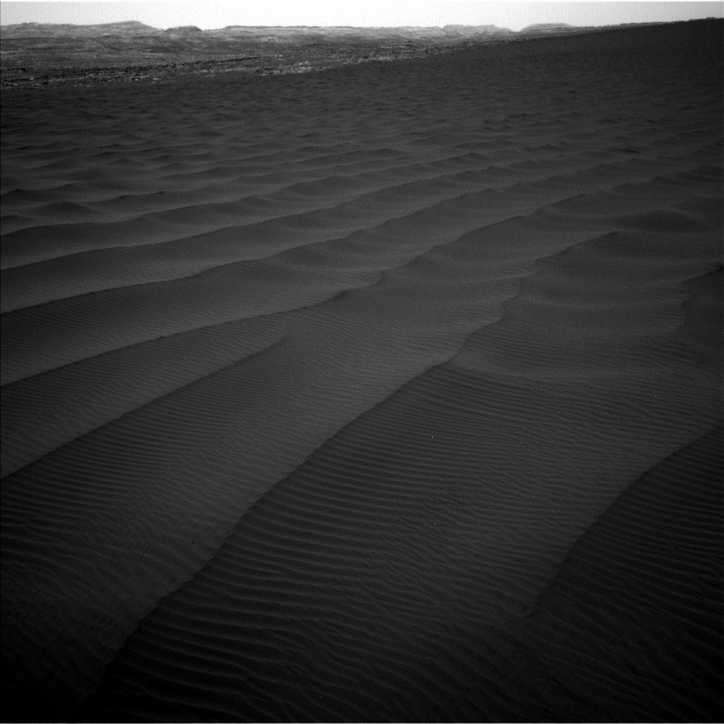 Navcam view of Bagnold dunes