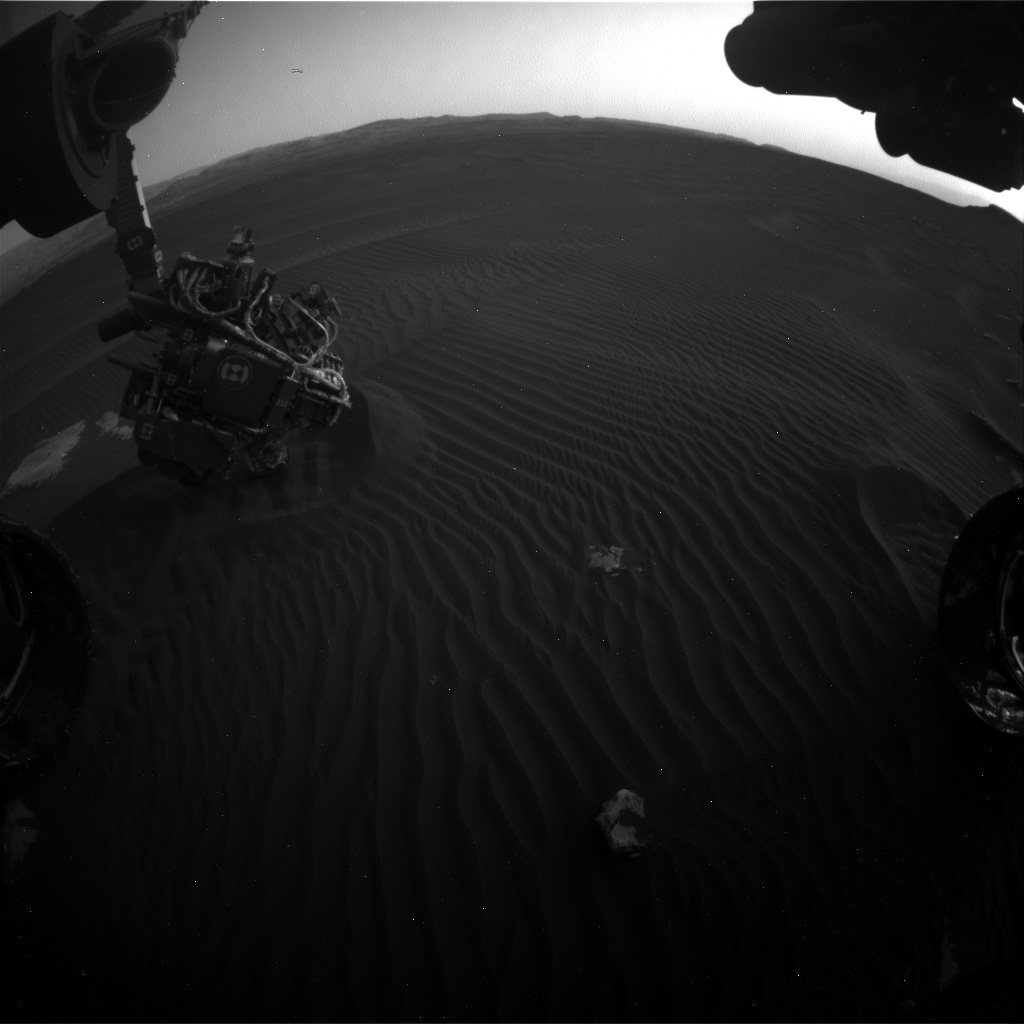 Nasa's Mars rover Curiosity acquired this image using its Front Hazard Avoidance Camera (Front Hazcam) on Sol 1602, at drive 3162, site number 60