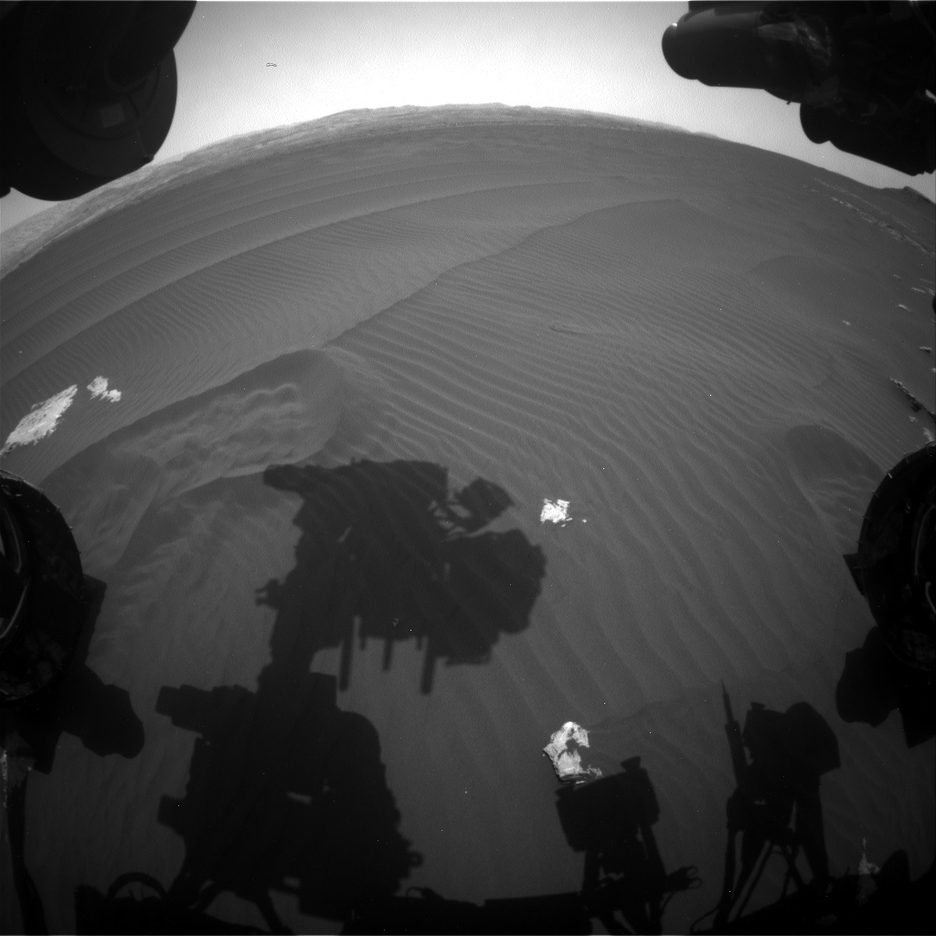 Nasa's Mars rover Curiosity acquired this image using its Front Hazard Avoidance Camera (Front Hazcam) on Sol 1603, at drive 3162, site number 60