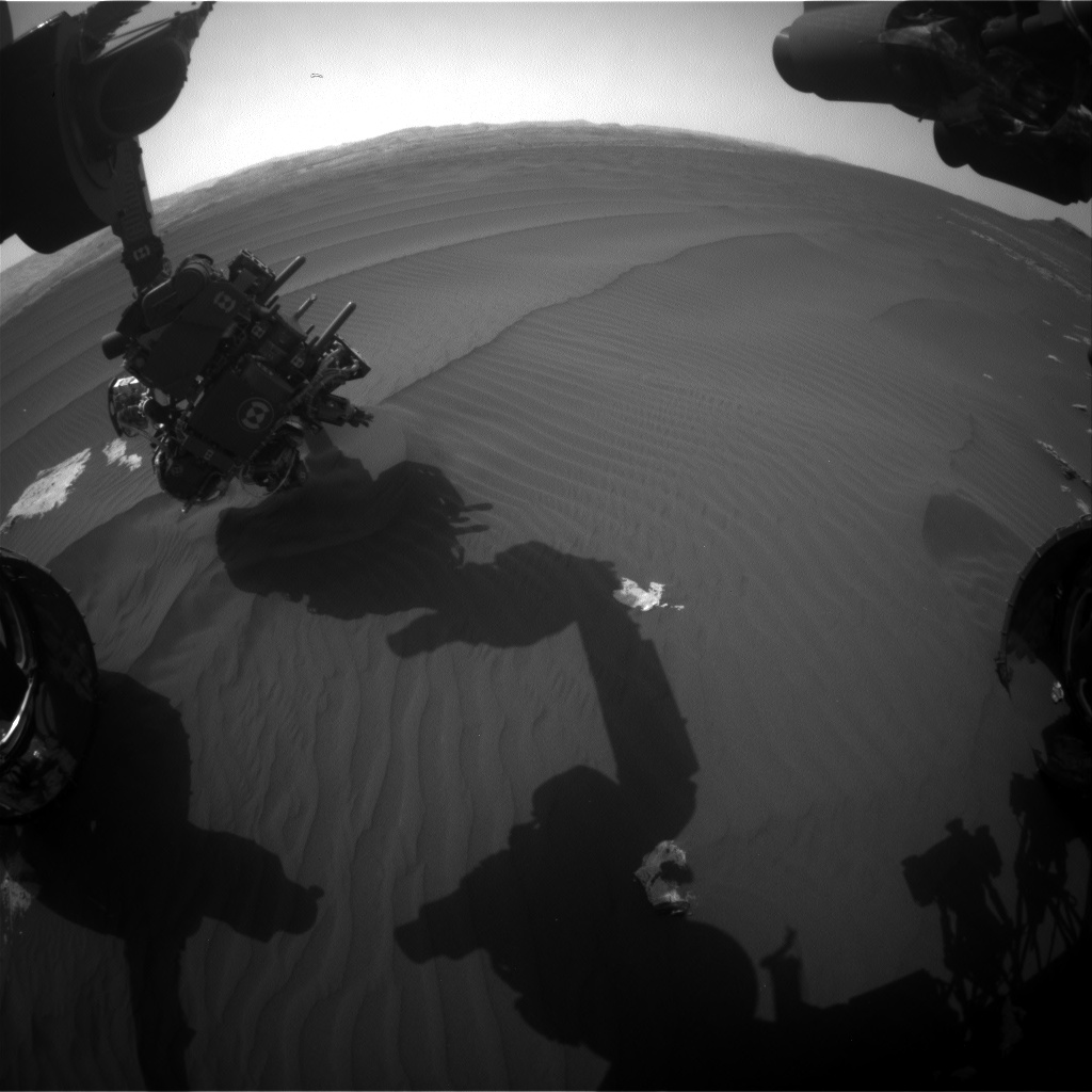 Nasa's Mars rover Curiosity acquired this image using its Front Hazard Avoidance Camera (Front Hazcam) on Sol 1604, at drive 3162, site number 60