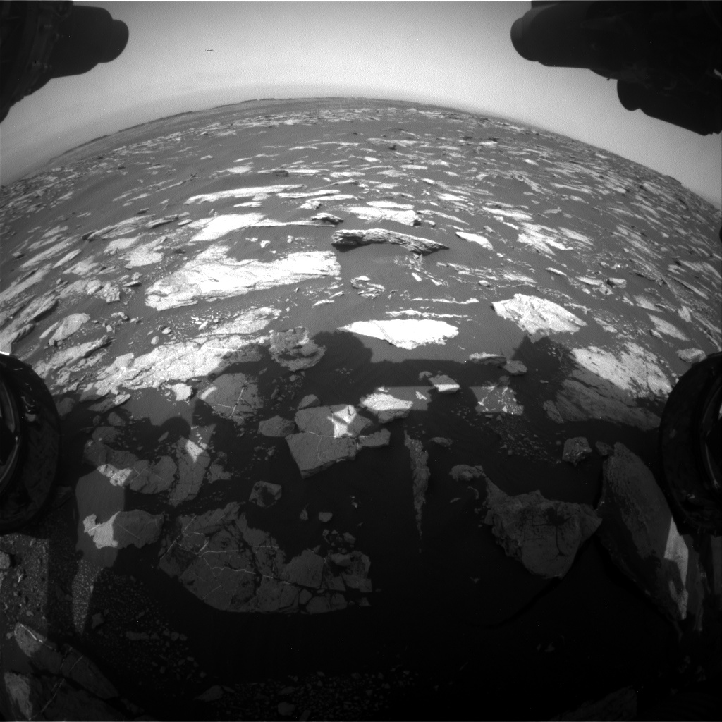 Nasa's Mars rover Curiosity acquired this image using its Front Hazard Avoidance Camera (Front Hazcam) on Sol 1604, at drive 0, site number 61
