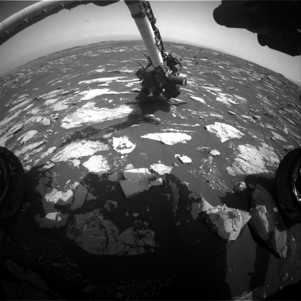 Nasa's Mars rover Curiosity acquired this image using its Front Hazard Avoidance Camera (Front Hazcam) on Sol 1605, at drive 0, site number 61