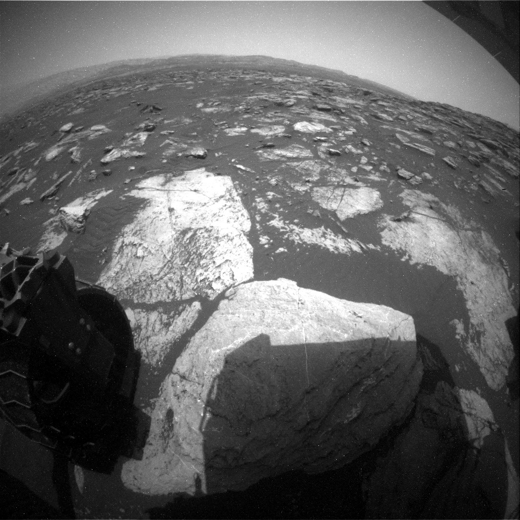 NASA's Mars rover Curiosity acquired this image using its Rear Hazard Avoidance Cameras (Rear Hazcams) on Sol 1605
