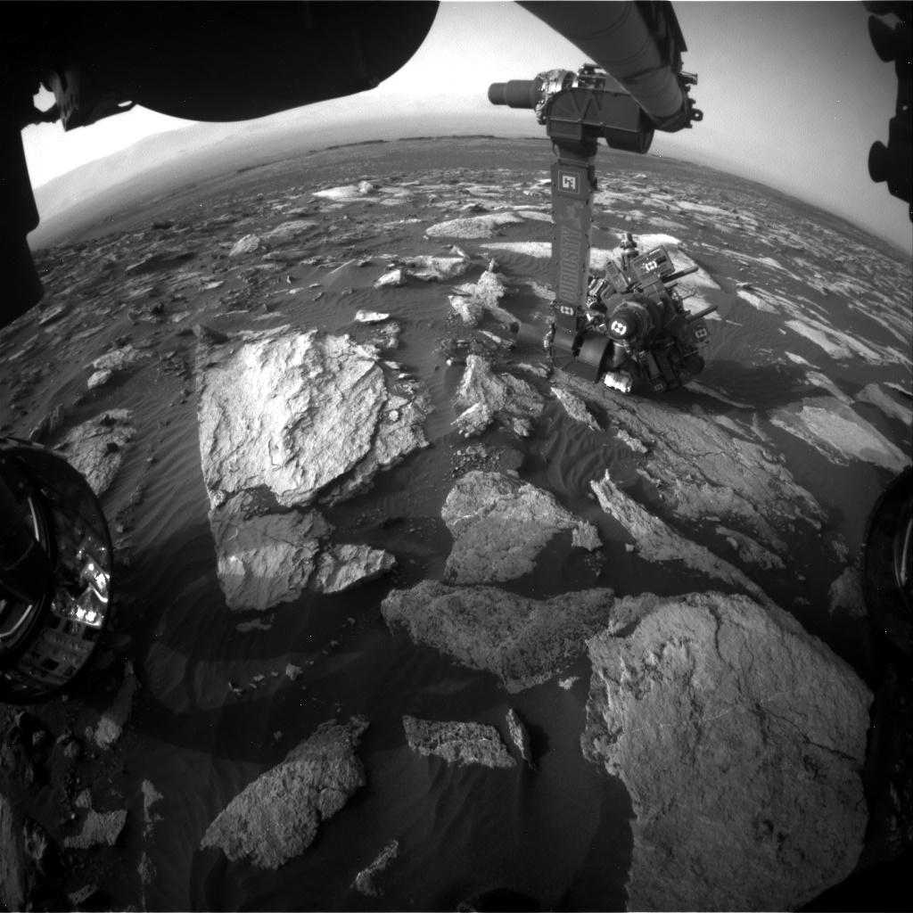 Nasa's Mars rover Curiosity acquired this image using its Front Hazard Avoidance Camera (Front Hazcam) on Sol 1606, at drive 156, site number 61
