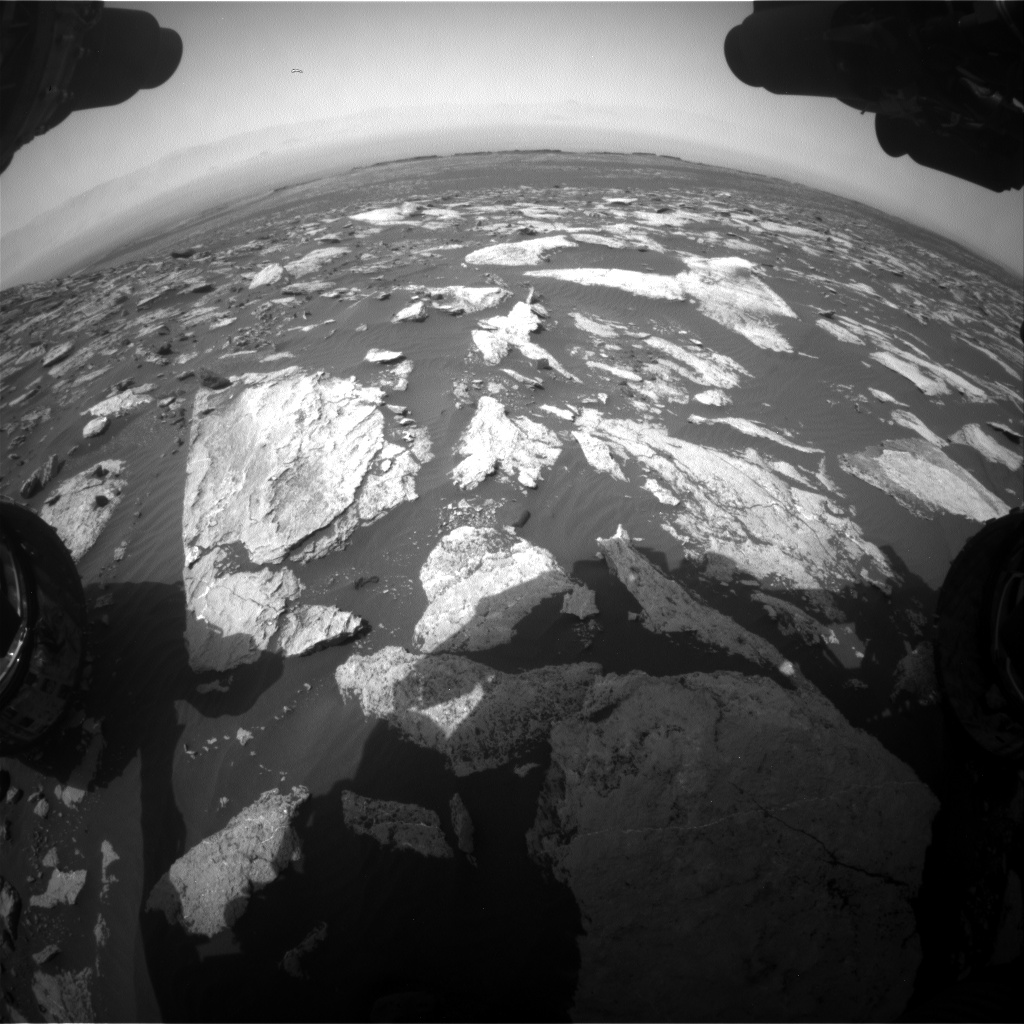 Nasa's Mars rover Curiosity acquired this image using its Front Hazard Avoidance Camera (Front Hazcam) on Sol 1607, at drive 156, site number 61
