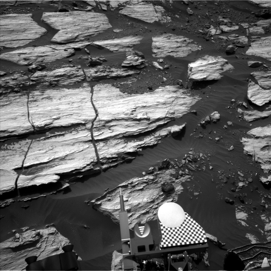 NASA's Mars rover Curiosity acquired this image using its Left Navigation Camera (Navcams) on Sol 1608