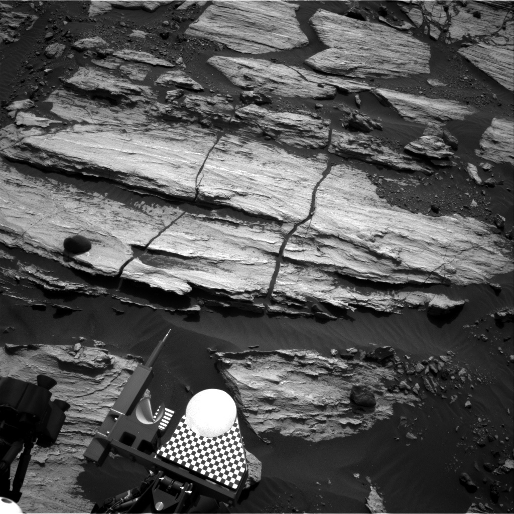 NASA's Mars rover Curiosity acquired this image using its Right Navigation Cameras (Navcams) on Sol 1608
