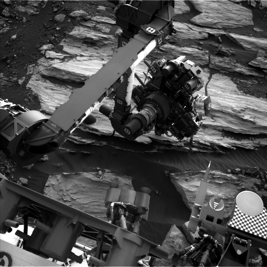 Nasa's Mars rover Curiosity acquired this image using its Left Navigation Camera on Sol 1609, at drive 252, site number 61