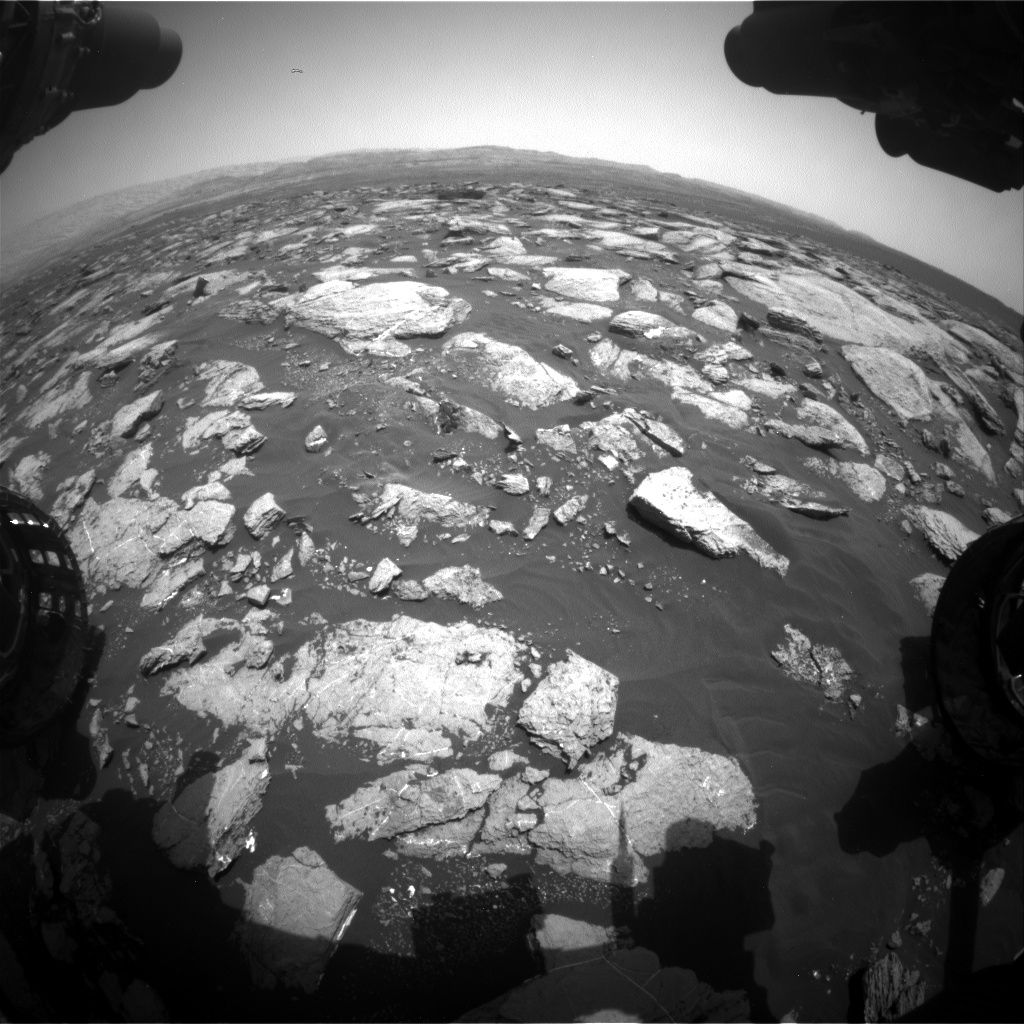 Nasa's Mars rover Curiosity acquired this image using its Front Hazard Avoidance Camera (Front Hazcam) on Sol 1610, at drive 456, site number 61