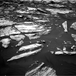 Nasa's Mars rover Curiosity acquired this image using its Left Navigation Camera on Sol 1610, at drive 318, site number 61
