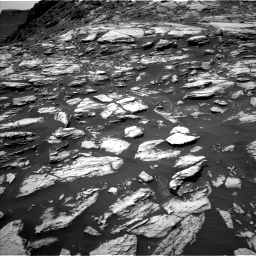 NASA's Mars rover Curiosity acquired this image using its Left Navigation Camera (Navcams) on Sol 1610