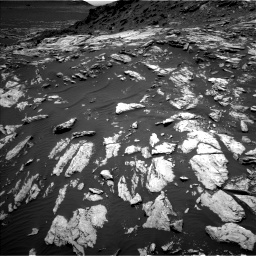 Nasa's Mars rover Curiosity acquired this image using its Left Navigation Camera on Sol 1610, at drive 390, site number 61