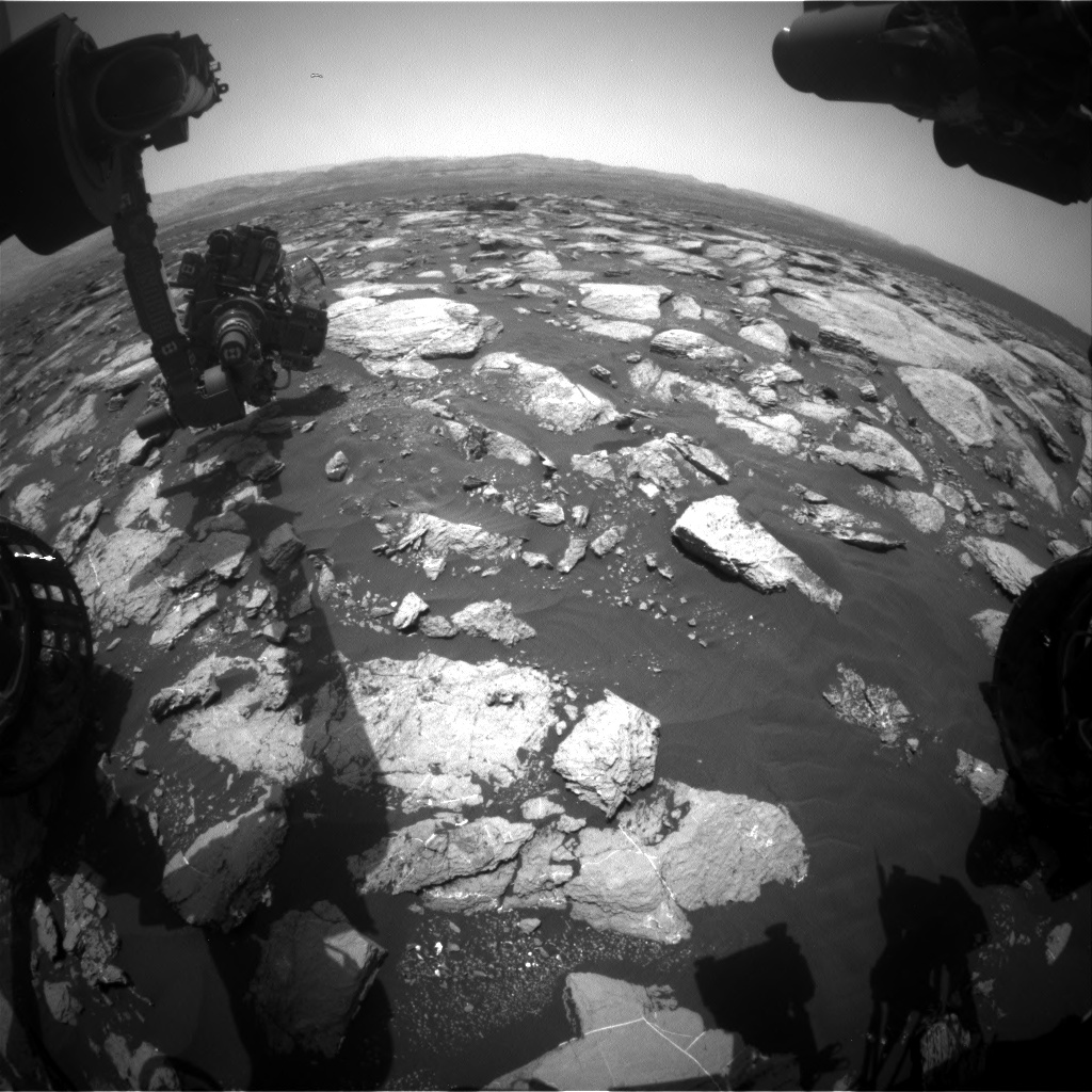 Nasa's Mars rover Curiosity acquired this image using its Front Hazard Avoidance Camera (Front Hazcam) on Sol 1611, at drive 456, site number 61