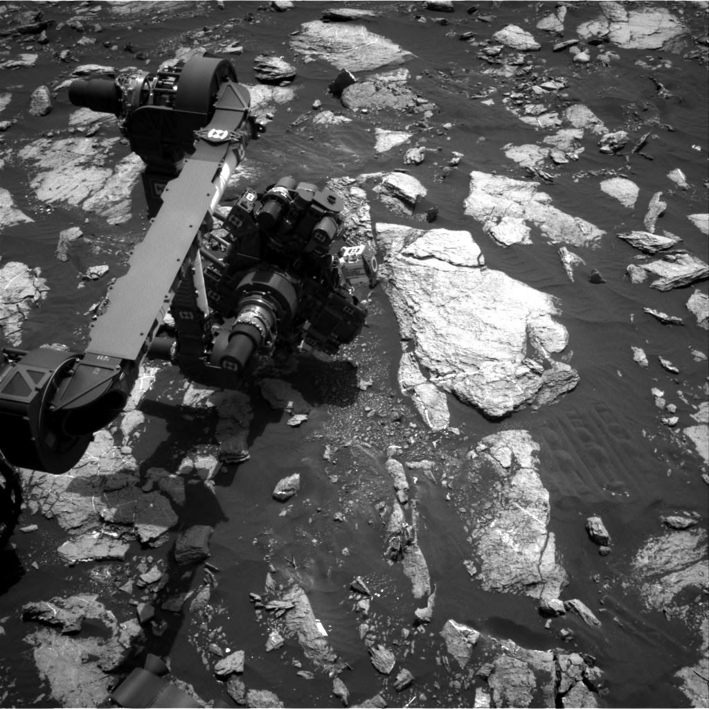 Nasa's Mars rover Curiosity acquired this image using its Right Navigation Camera on Sol 1611, at drive 456, site number 61