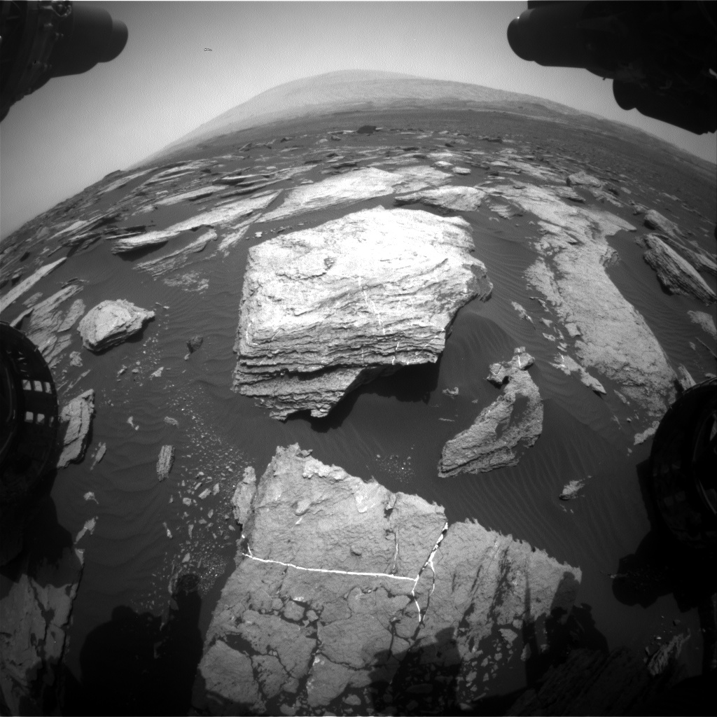 Nasa's Mars rover Curiosity acquired this image using its Front Hazard Avoidance Camera (Front Hazcam) on Sol 1613, at drive 924, site number 61