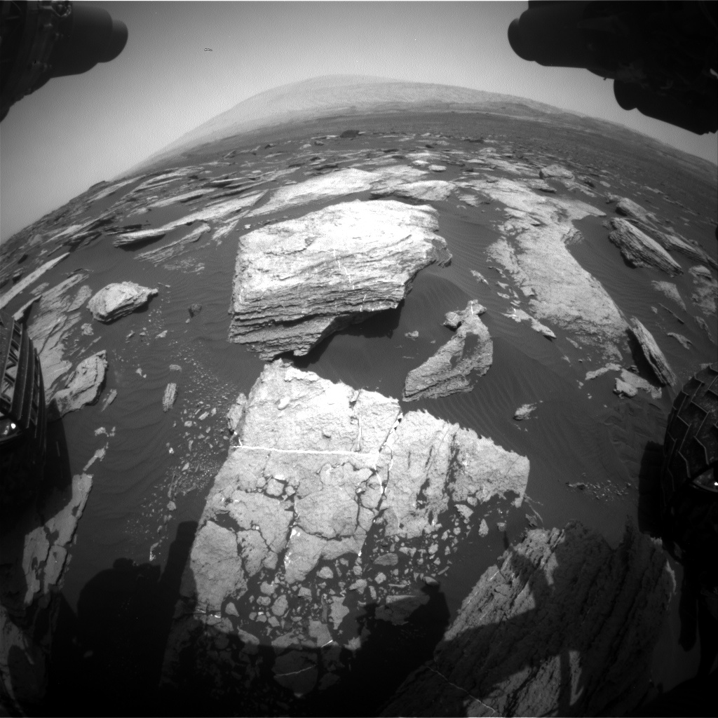 Nasa's Mars rover Curiosity acquired this image using its Front Hazard Avoidance Camera (Front Hazcam) on Sol 1616, at drive 934, site number 61