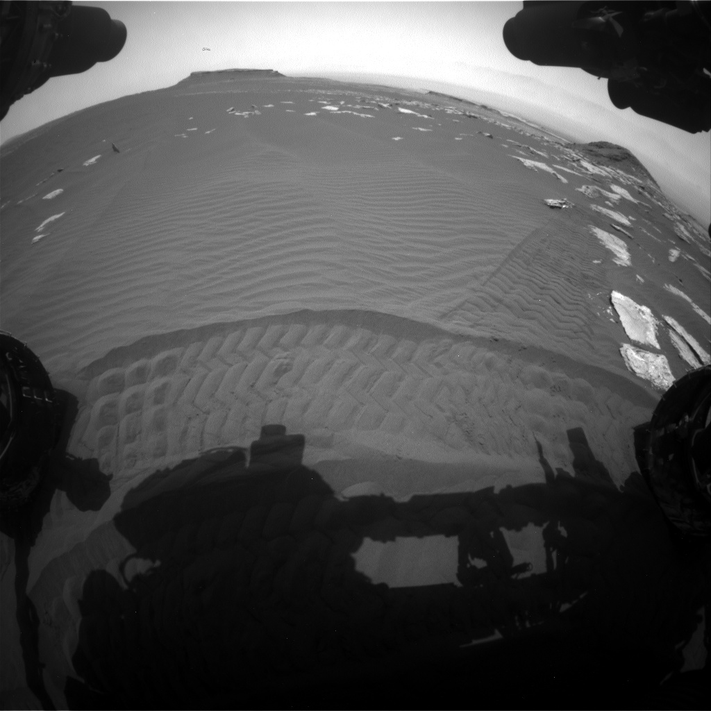 Nasa's Mars rover Curiosity acquired this image using its Front Hazard Avoidance Camera (Front Hazcam) on Sol 1617, at drive 1140, site number 61