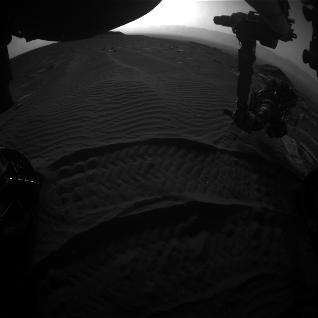 NASA's Mars rover Curiosity acquired this image using its Front Hazard Avoidance Cameras (Front Hazcams) on Sol 1618