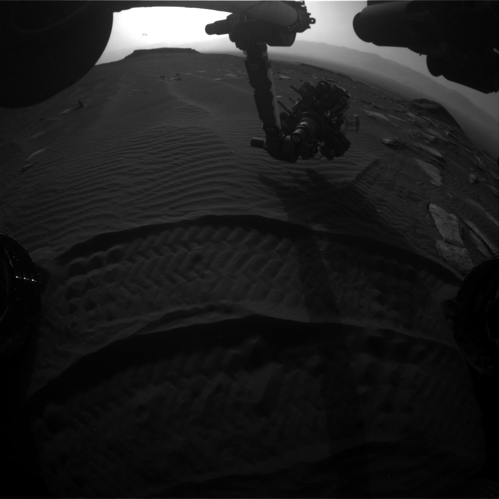 Nasa's Mars rover Curiosity acquired this image using its Front Hazard Avoidance Camera (Front Hazcam) on Sol 1618, at drive 1140, site number 61