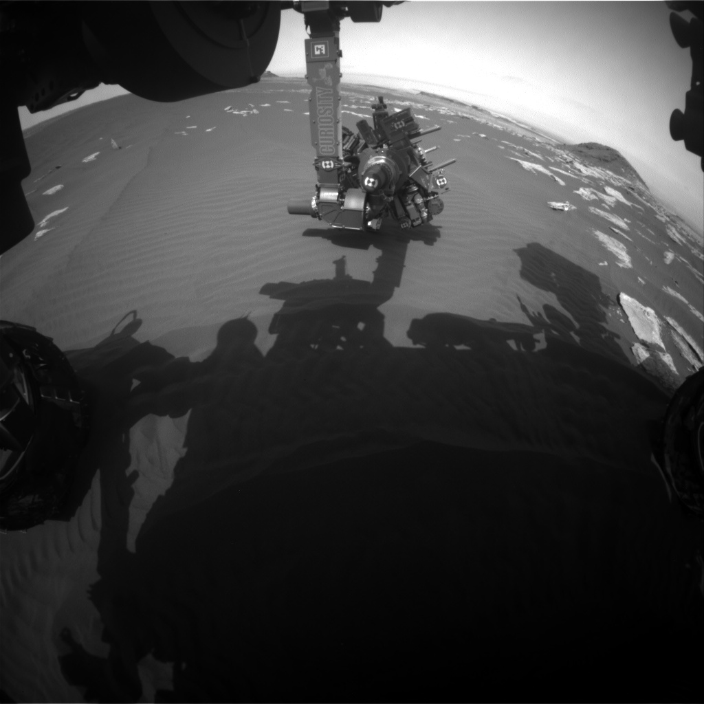 Nasa's Mars rover Curiosity acquired this image using its Front Hazard Avoidance Camera (Front Hazcam) on Sol 1619, at drive 1140, site number 61