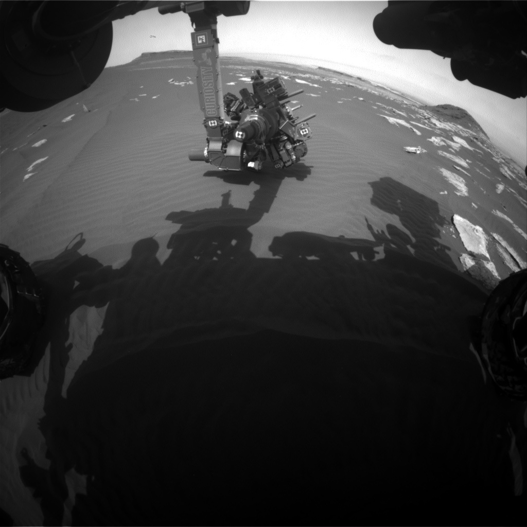 NASA's Mars rover Curiosity acquired this image using its Front Hazard Avoidance Cameras (Front Hazcams) on Sol 1619