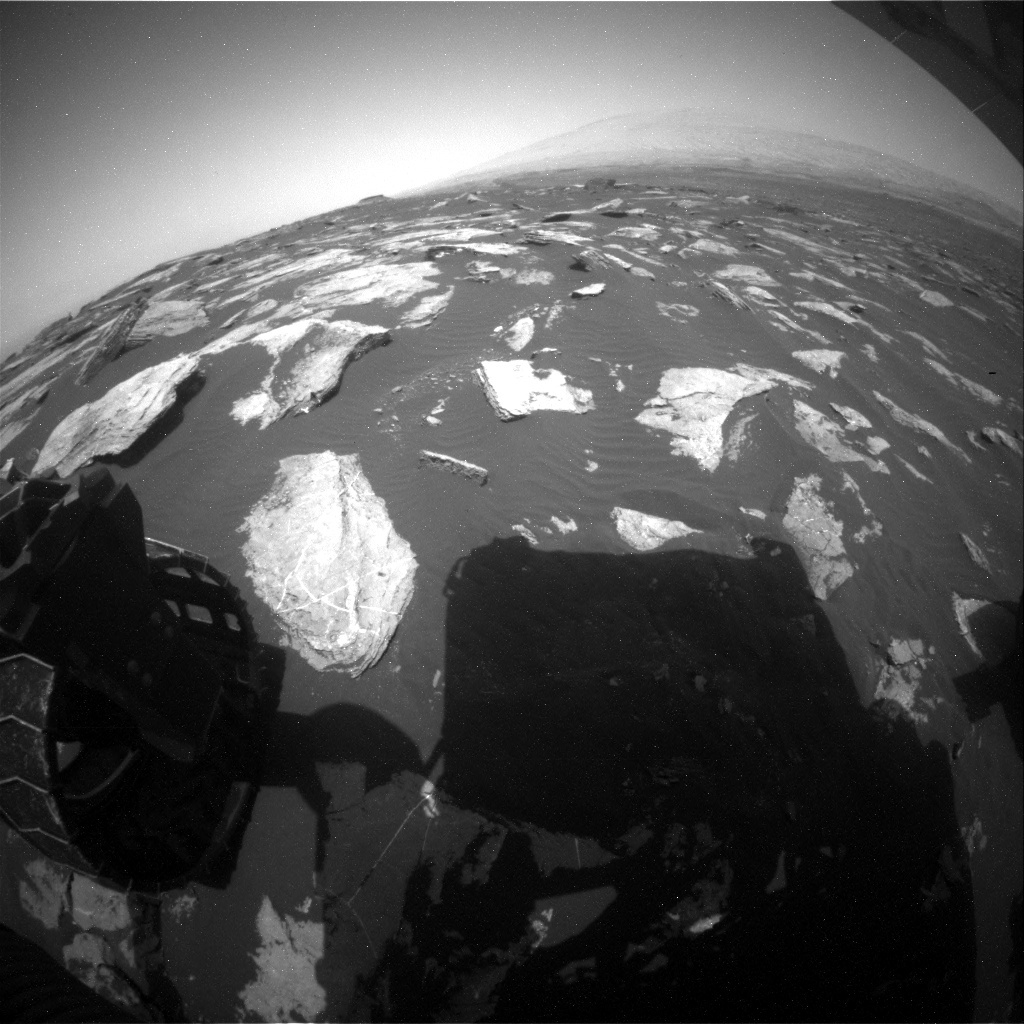 NASA's Mars rover Curiosity acquired this image using its Rear Hazard Avoidance Cameras (Rear Hazcams) on Sol 1619
