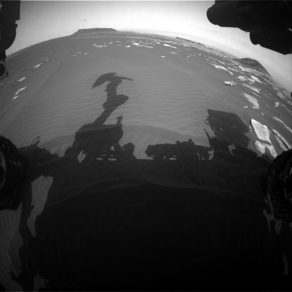 Nasa's Mars rover Curiosity acquired this image using its Front Hazard Avoidance Camera (Front Hazcam) on Sol 1620, at drive 1140, site number 61