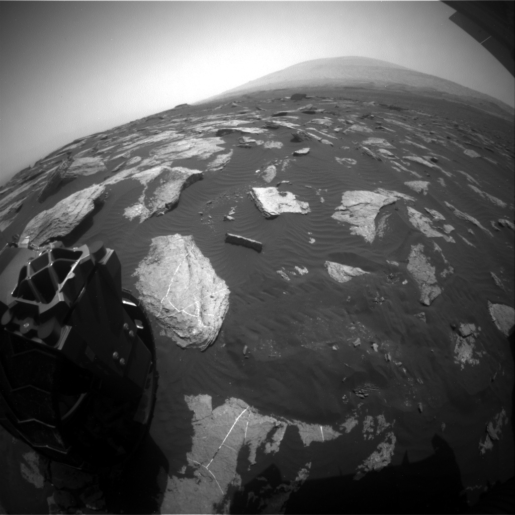 NASA's Mars rover Curiosity acquired this image using its Rear Hazard Avoidance Cameras (Rear Hazcams) on Sol 1620