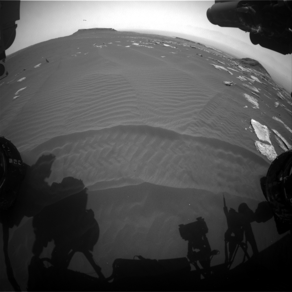 Nasa's Mars rover Curiosity acquired this image using its Front Hazard Avoidance Camera (Front Hazcam) on Sol 1621, at drive 1140, site number 61