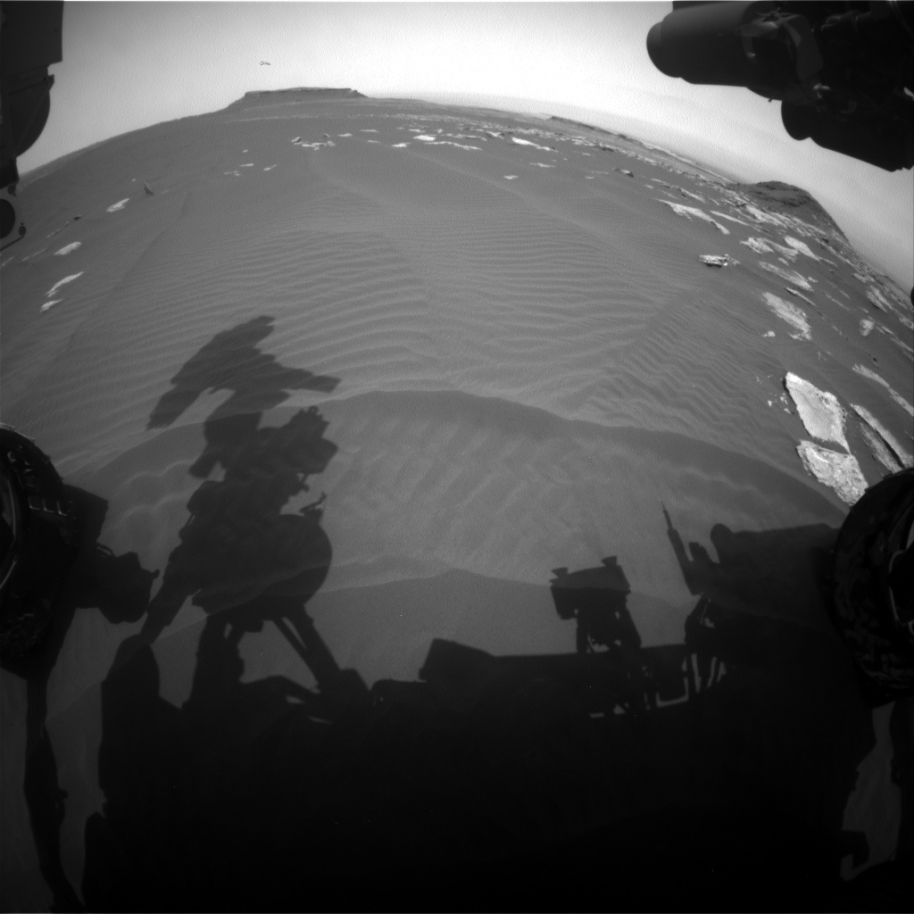 Nasa's Mars rover Curiosity acquired this image using its Front Hazard Avoidance Camera (Front Hazcam) on Sol 1622, at drive 1140, site number 61