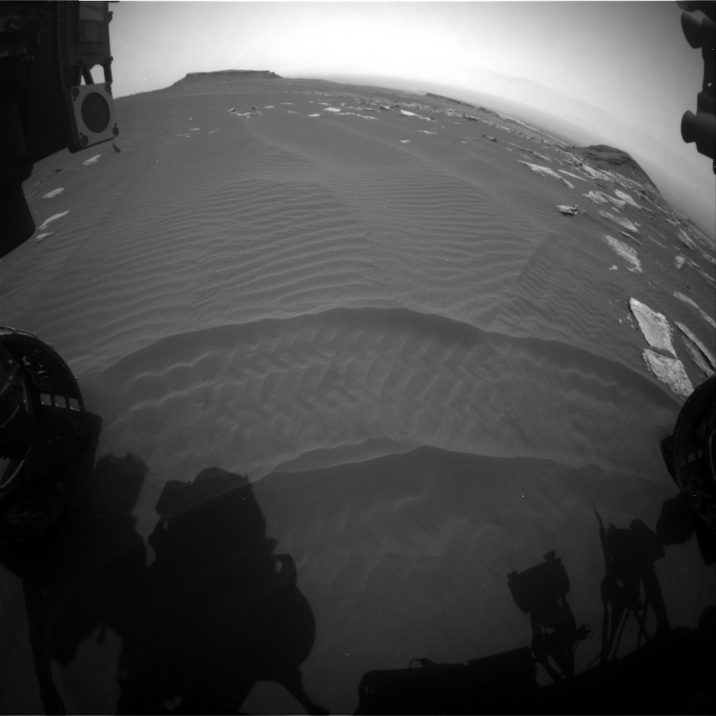 Nasa's Mars rover Curiosity acquired this image using its Front Hazard Avoidance Camera (Front Hazcam) on Sol 1623, at drive 1140, site number 61