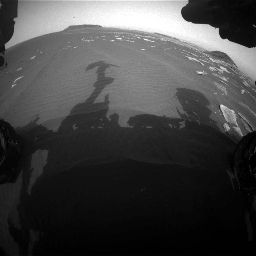 Nasa's Mars rover Curiosity acquired this image using its Front Hazard Avoidance Camera (Front Hazcam) on Sol 1624, at drive 1140, site number 61