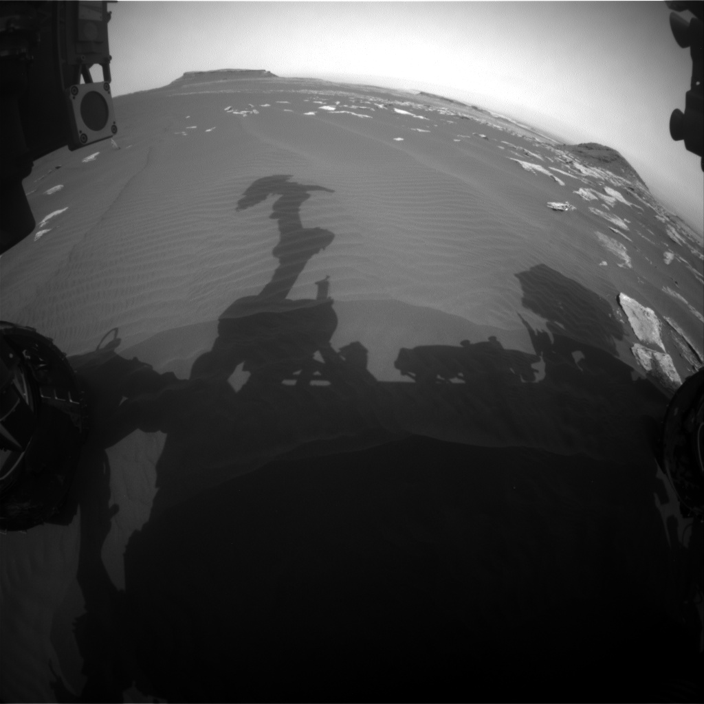 Nasa's Mars rover Curiosity acquired this image using its Front Hazard Avoidance Camera (Front Hazcam) on Sol 1626, at drive 1140, site number 61
