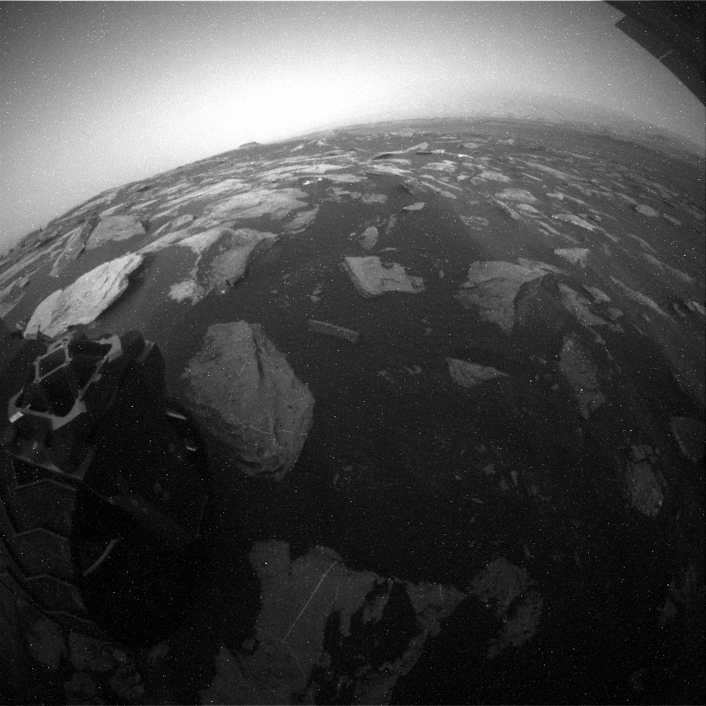 NASA's Mars rover Curiosity acquired this image using its Rear Hazard Avoidance Cameras (Rear Hazcams) on Sol 1627