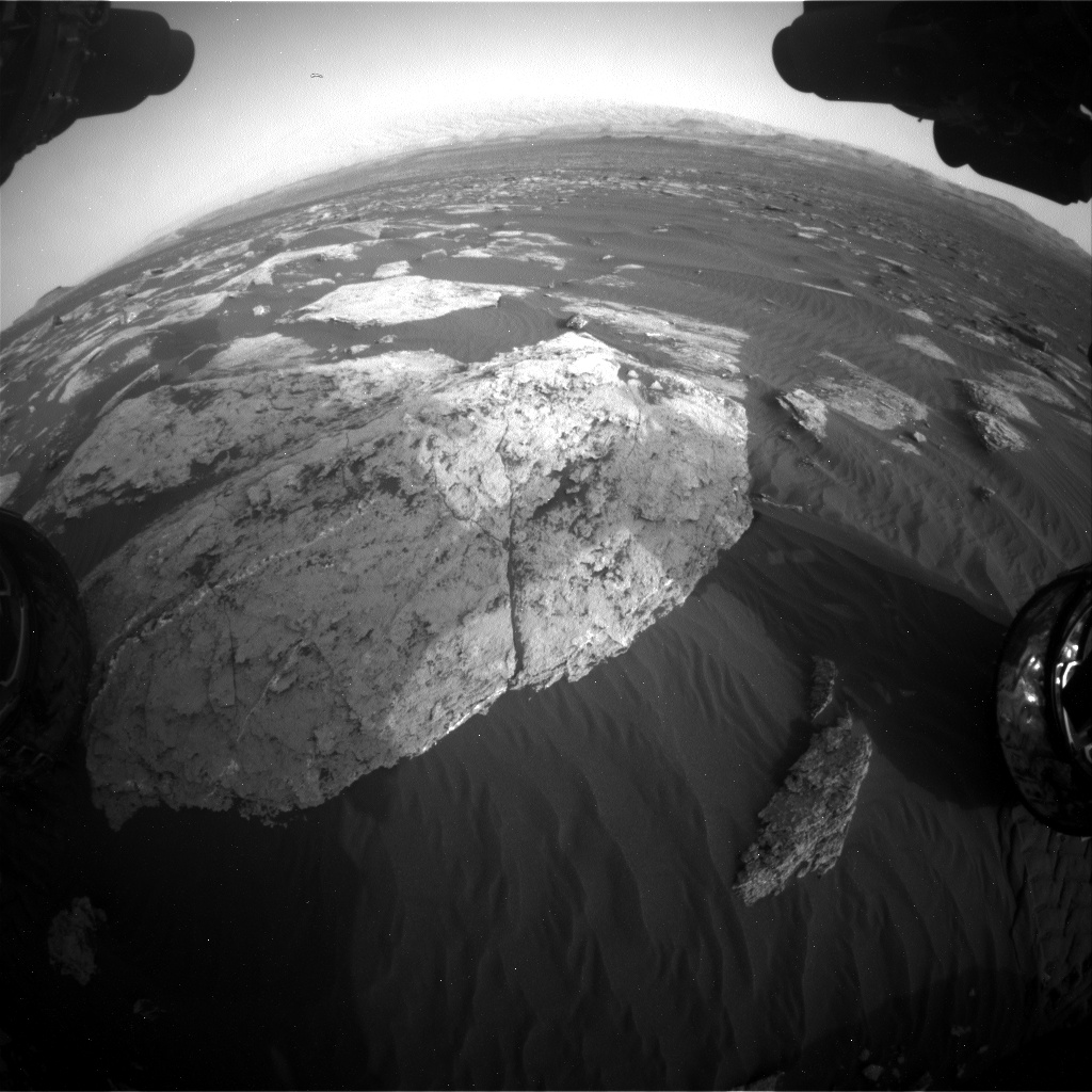 Nasa's Mars rover Curiosity acquired this image using its Front Hazard Avoidance Camera (Front Hazcam) on Sol 1628, at drive 1332, site number 61