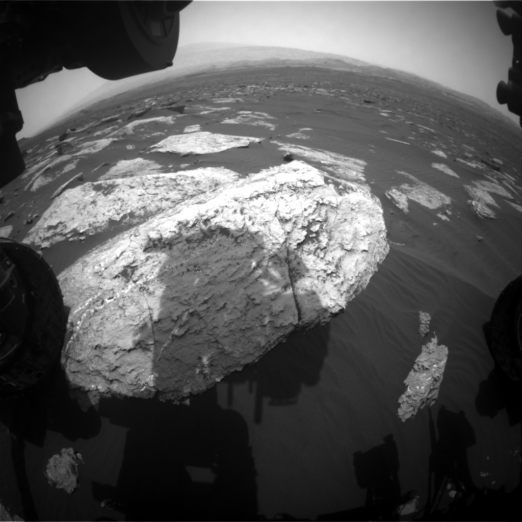 Nasa's Mars rover Curiosity acquired this image using its Front Hazard Avoidance Camera (Front Hazcam) on Sol 1629, at drive 1332, site number 61
