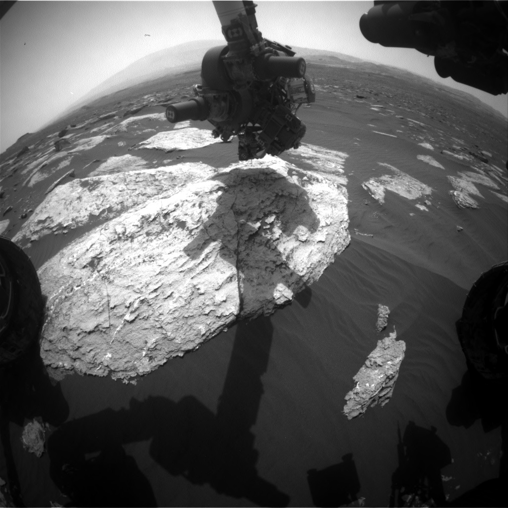 Nasa's Mars rover Curiosity acquired this image using its Front Hazard Avoidance Camera (Front Hazcam) on Sol 1630, at drive 1332, site number 61