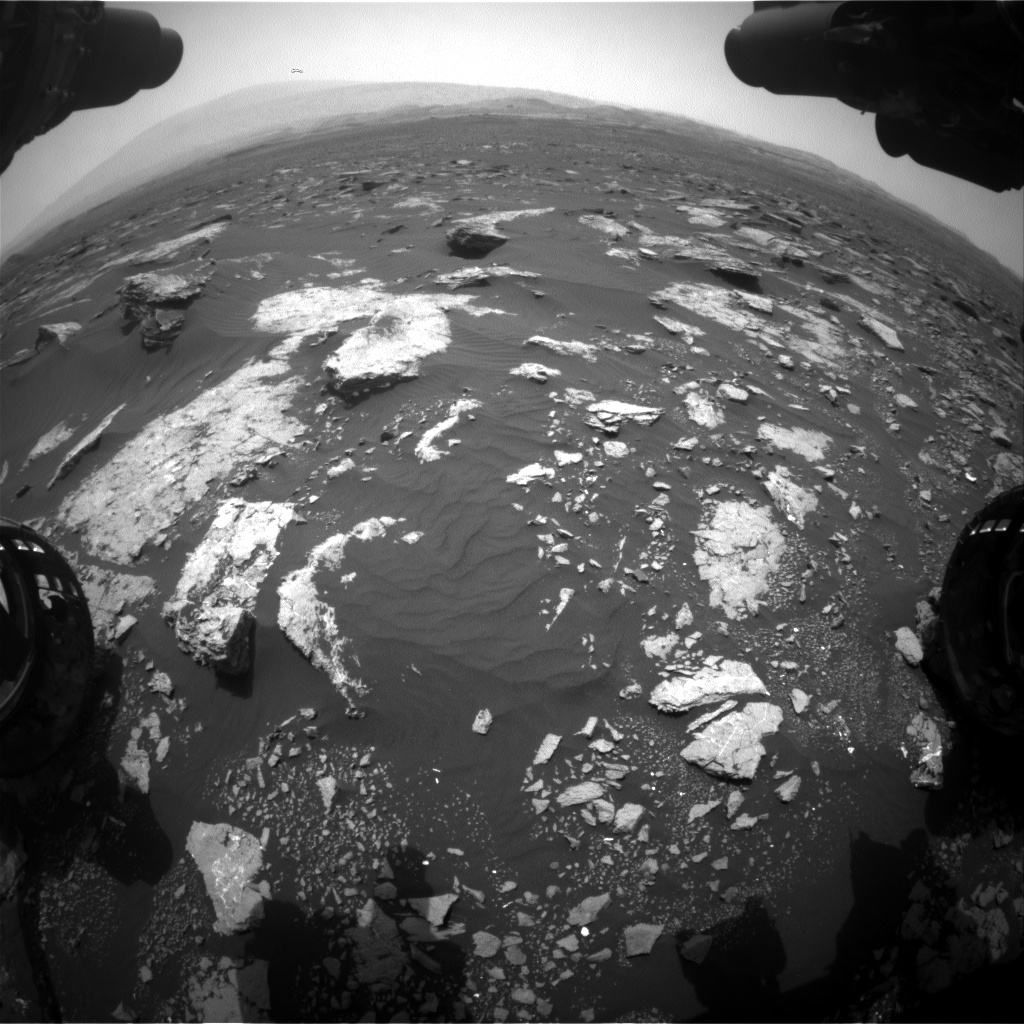 Nasa's Mars rover Curiosity acquired this image using its Front Hazard Avoidance Camera (Front Hazcam) on Sol 1631, at drive 1650, site number 61