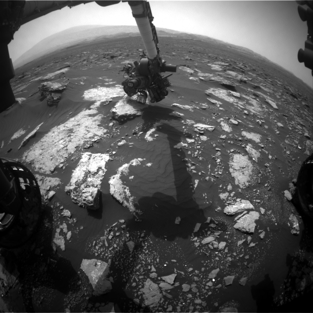 Nasa's Mars rover Curiosity acquired this image using its Front Hazard Avoidance Camera (Front Hazcam) on Sol 1632, at drive 1650, site number 61