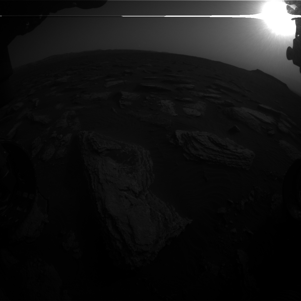 Nasa's Mars rover Curiosity acquired this image using its Front Hazard Avoidance Camera (Front Hazcam) on Sol 1632, at drive 1908, site number 61