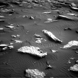 Nasa's Mars rover Curiosity acquired this image using its Left Navigation Camera on Sol 1632, at drive 1818, site number 61