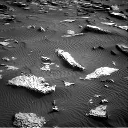 Nasa's Mars rover Curiosity acquired this image using its Right Navigation Camera on Sol 1632, at drive 1818, site number 61