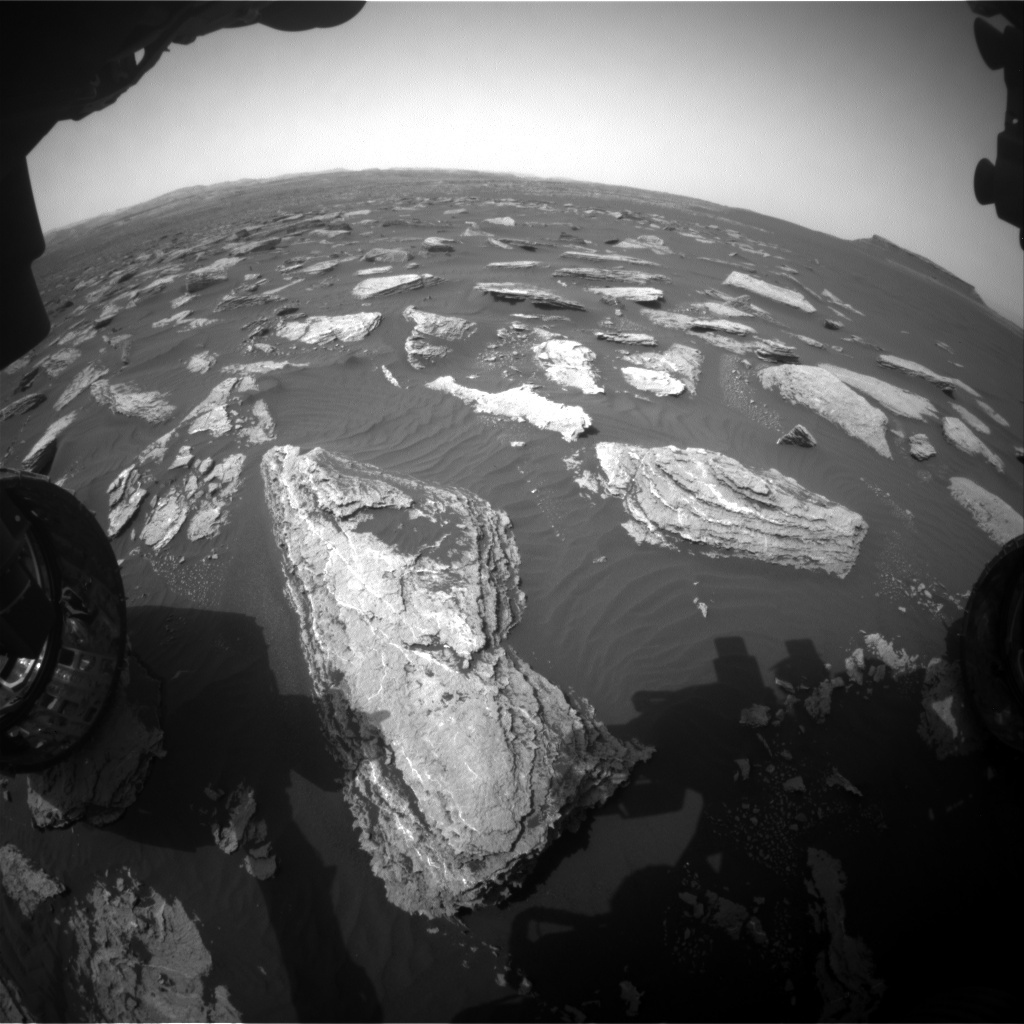 NASA's Mars rover Curiosity acquired this image using its Front Hazard Avoidance Cameras (Front Hazcams) on Sol 1633
